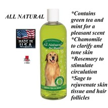 Top Performance ALL NATURAL Green Tea,Chamomile&Mint,Essential Oils Pet ... - $15.99