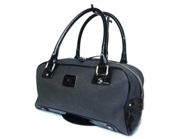 Authentic BURBERRY BLUE LABEL Canvas Patent Leather Gray Shoulder Bag BS... - $159.00