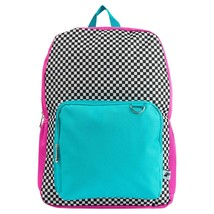 "NEW Yoobi 17"" Checker Color Block Multi-Color Backpack"
