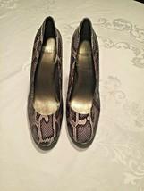 Stuart Weitzman Python Stilettos Heels Round Toe Platform Pumps Shoes Size 10 M - $55.74