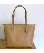 Coach City Zip Tote Bag ~ Light Saddle Crossgrain Leather Handbag ~ 5884... - $125.95