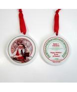 2 Vintage 1998 Norman Rockwell Santa's Children Ceramic Christmas Tree O... - $9.99