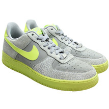NIKE Air Force 1 Low Mens Size 10.5 Volt Elephant Print Wolf Grey 488298... - $79.19