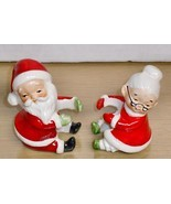 Vintage-LEFTON Japan Mr & Mrs S. Claus -Candle holders - $32.61 CAD