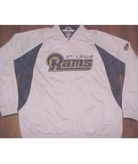 St. Louis Rams NFL NFC West Reebok White Logo Full Zipper Track Jacket X... - $79.19