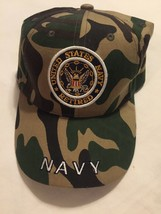 United States Navy Retires Hat Camoflauge Cap Baseball Trucker Adjustabl... - $9.00