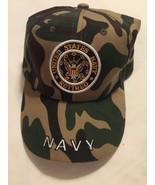 United States Navy Retires Hat Camoflauge Cap Baseball Trucker Adjustabl... - $9.00