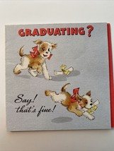 "Vintage 1943 Hallmark Greeting Card Graduation Hall Brothers Kansas City 4"" - $10.00"
