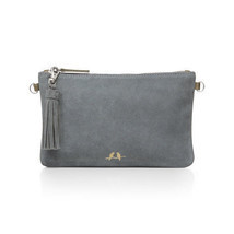 Chloe and Isabel Rue Royale Suede Clutch + Chain NWT - $46.75