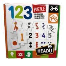 Headu 123 Puzzle Numbers Quantities Sequences Educational Preschool Coun... - $17.15