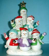 Lenox Christmas Snowmen Sentiments Peace Hope Joy Grace Happiness Faith New - £68.97 GBP