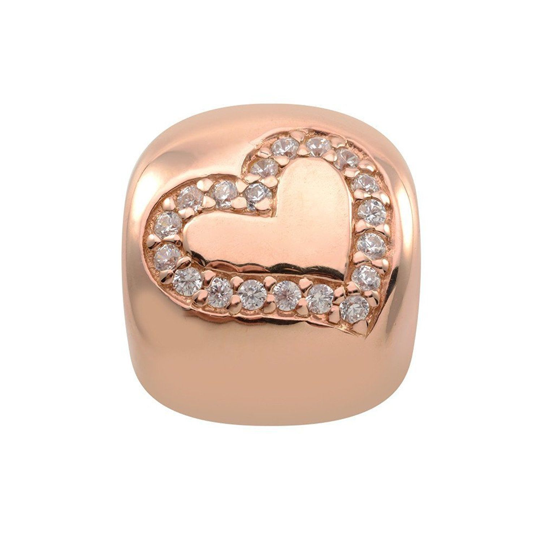 Persona 18K rose gold over sterling silver Forever Rose Charm Fit Charm Bracelet