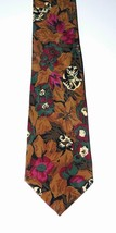 HUGO BOSS designer tie necktie authentic silk fine Italy Fall colors pri... - $32.98