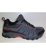 Fila Size 11.5 WESTMOUNT Grey Black Red Leather Hiking Sneakers New Mens... - $98.01