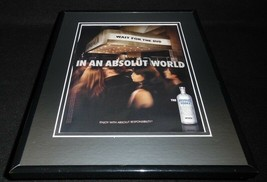 2008 Absolut Vodka Framed 11x14 ORIGINAL Vintage Advertisement - $34.64
