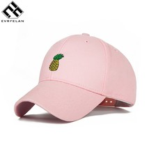 Fashion Pineapple Embroidery Baseball Cap Women Summer Snapback Cap Ladi... - $9.99