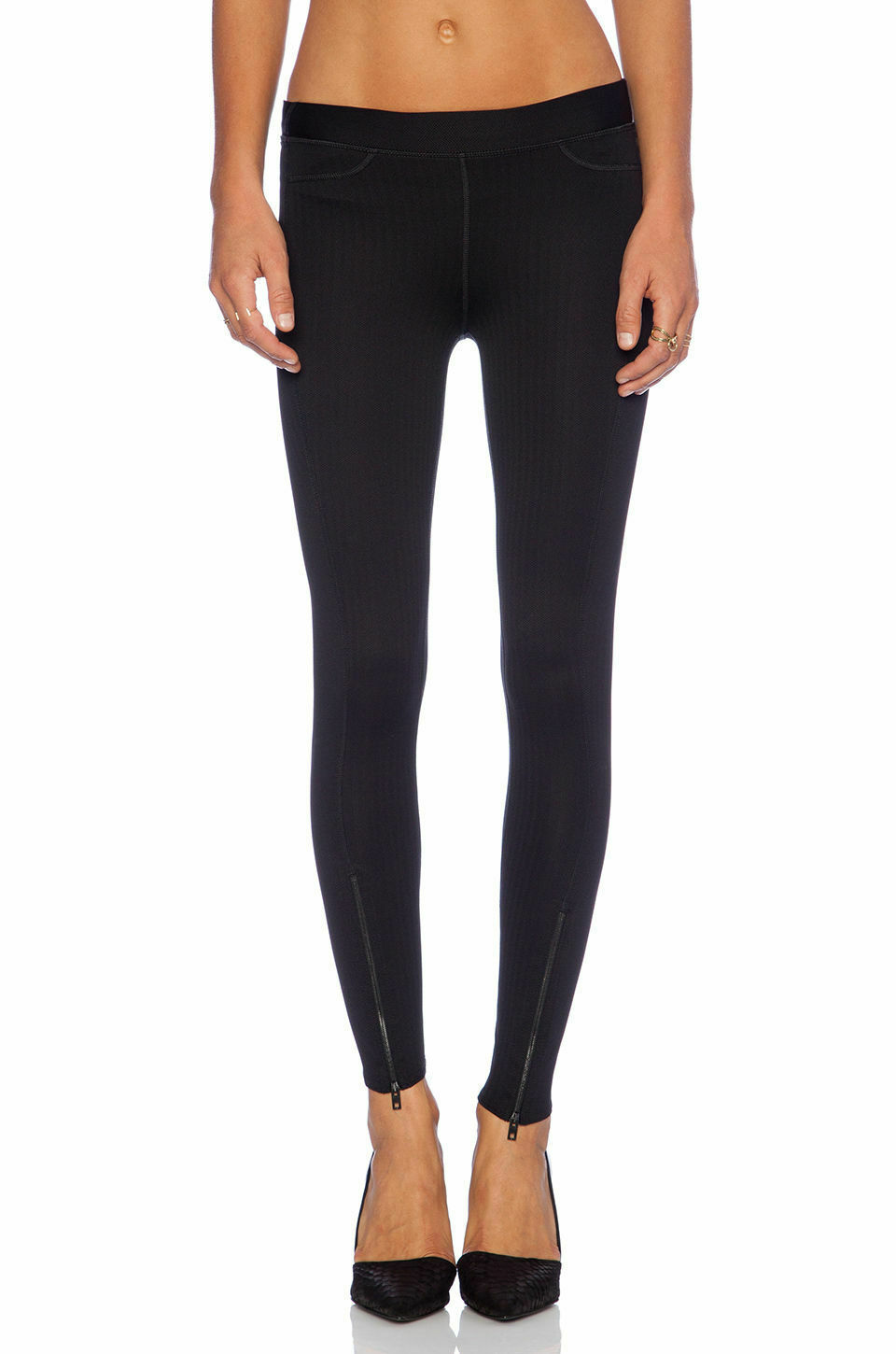 Rag & Bone Women's Lawson Premium Leggings Pants, Black Chevron