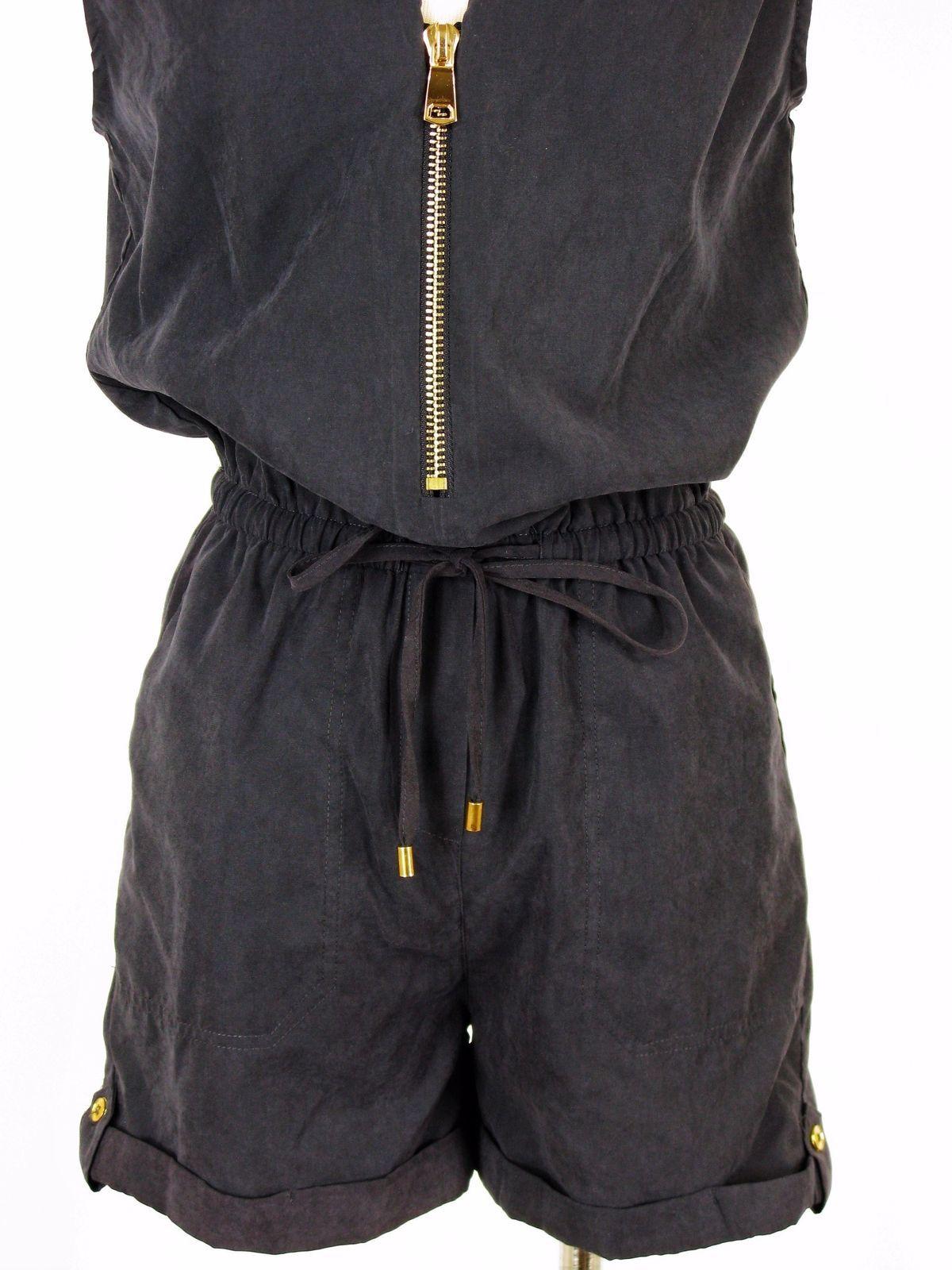 Romper Shorts Grifflin Paris Navy Blue Zipper Romper NEW $60 MSRP