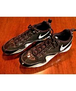 NIKE Slasher Framelite 414990-011 Black White Silver  Baseball Cleats SI... - $22.78