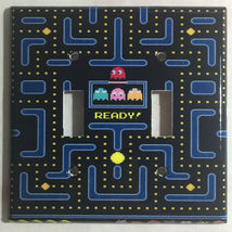 Pac-Man Pacman Games Light Switch Duplex Outlet wall Cover Plate Home Decor image 2