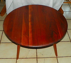 Round Solid Walnut Coffee Table by Bissman - $399.00