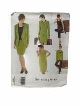 Vogue 1831 Misses Petite Jacket Dress Top Skirt Pants Sewing Pattern Siz... - $8.90
