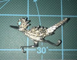 Vintage  Roadrunner Brooch Southwest Bird New Silver Plated New - $11.88