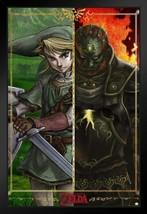Framed Legend of Zelda Link vs Gannon Poster - $90.00