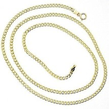 18K YELLOW GOLD GOURMETTE CUBAN CURB CHAIN 2 MM, 19.7 inches, NECKLACE image 1