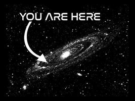 FUNNY TSHIRT You Are Here In The Universe Astonomy T-Shirt Mens Womens Tee Shir  - $11.99