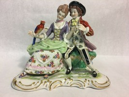 Collectible Antique German Porcelain Large Figurine Statue Capodimonte Style - $494.01