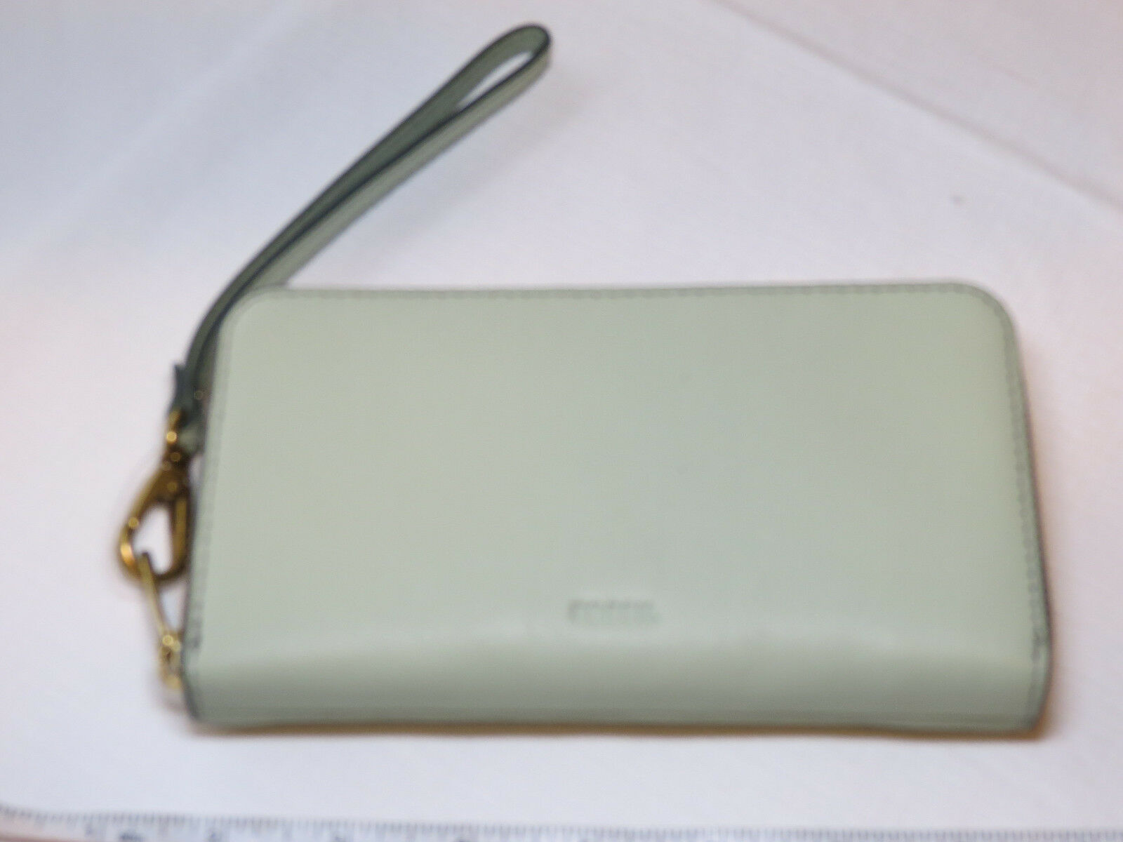 Primary image for Fossil SL7151336 RFID Emma Smartphone Wristlet Lght Sage wallet clutch leather*^