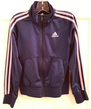 Adidas Boys Sz S Royal Blue & Pink Full Zip Jacket Coat Athletic - $5.93