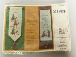 The Creative Circle Three Wise Men Bellpull Christmas Door Cross Stitch Kit 2169 - $14.40