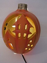 Haunted House Pumpkin carved look light decoration Halloween - £11.39 GBP