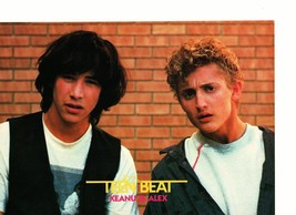 Keanu Reeves Alex Winter teen magazine pinup clipping in shock by a brick wall