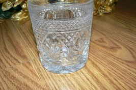 Unmarked Sweet Clear Glass Raised Diamond Fans Designed Old Fashion Glass - $9.89