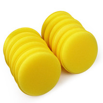 12 pcs/set Car Wax Sponge Automobile Cleaning Tool Car Care Yellow Anti-... - $10.32