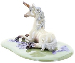 Hagen-Renaker Specialties Ceramic Figurine Unicorn Lying on Base image 5