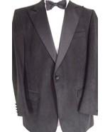 1 Kepp's Men Shops evening coat black 42L ultrasuede handcraft USA holiday. - $29.69
