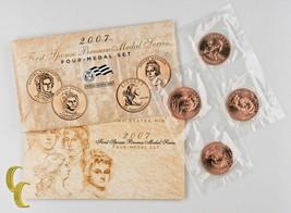 2007 First Spouse Bronze Medal Series 4 Medal Set US Mint - $29.42
