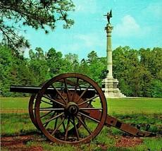 Chickamauga TN Tennessee Battlefield Georgia Monument Canon Vtg Chrome P... - $3.95