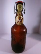 Vintage Brown Glass Grolsch Beer Bottle, Porcelain Flip & Swing Lid - $3.89