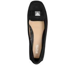 NEW! MICHAEL KORS ~Size 6~ Bow-Detail Caroline Suede Black Moccasin Flat... - $89.00