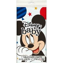 Disney Baby Mickey Mouse 1st Birthday Plastic Tablecover Baby Party Supplies NEW