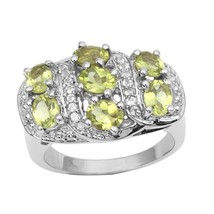 Gorgeous Looking Peridot Gemstone 925 Sterling Silver Women Ring Sz 8 SH... - £25.08 GBP