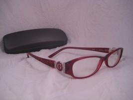 GUESS Rx Eyeglass Frames GU1653 Red Oval Acetate Full Rim Silver G Hinge - $19.55
