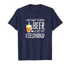 Dog Fashion - Beer and Keeshond Shirt Funny Dog Mom or Dog Dad Gift Idea... - $19.95+