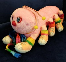 Vintage Pink Commonwealth Lots a Leggggggs Caterpillar Plush Toy Bug Gir... - $26.72