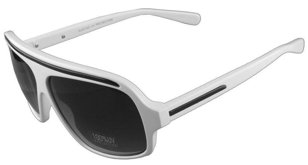 Quay Australia Eyewear 1301 White Black Aviator Style Designer Sunglasses New